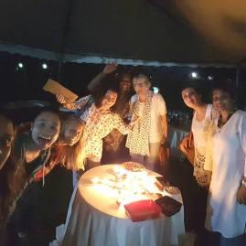 A surprise Deepavali/Diwali (festival of lights) celebration at dinner
