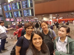 Singapore team checking in